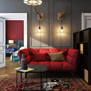 Дизайн четырехкомнатной квартиры - 1