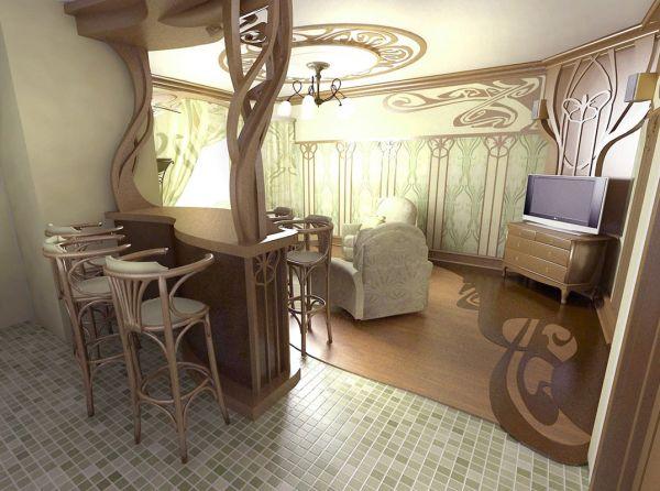 Модерн в дизайне интерьера