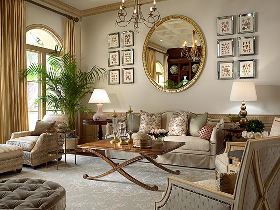 Дизайн гостиной в 2016 в классическом стиле
