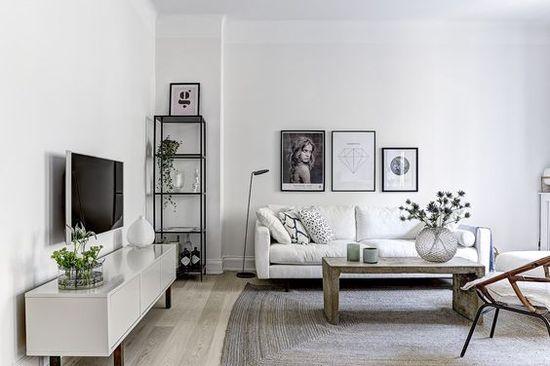 Скандинавский стиль в гостиной - фото