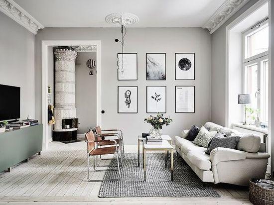 Гостиная в скандинавском стиле - фото