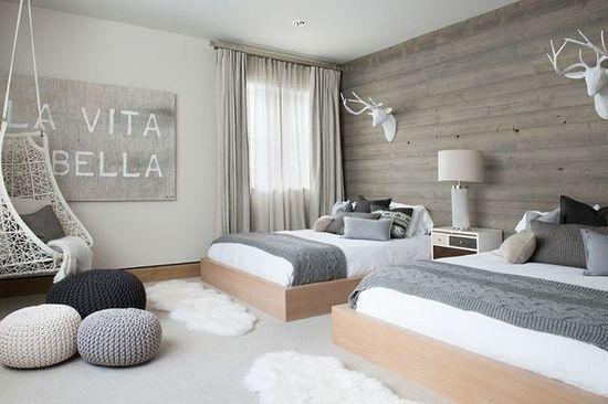 Скандинавский стиль в спальне - фото