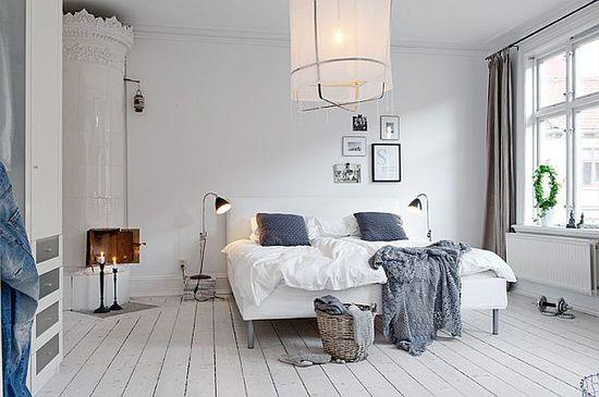 Спальня в скандинавском стиле - фото