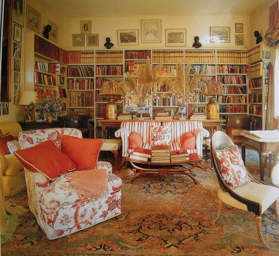 Дизайн интерьера гостиной в английском стиле - фото