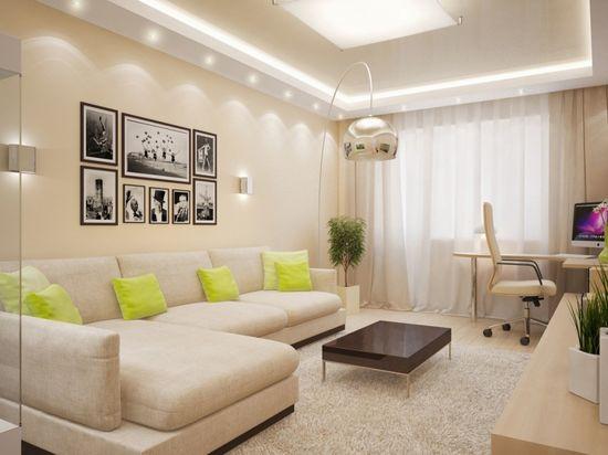 Дизайн интерьера квартиры в светлых тонах - фото