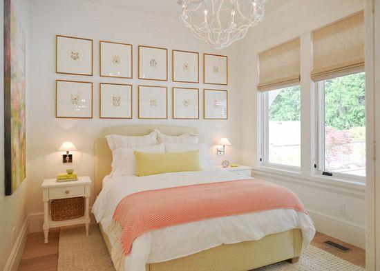 Дизайн интерьера спальни в светлых тонах - фото