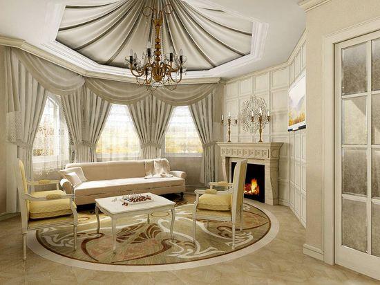 Дизайн интерьера квартиры в классическом стиле - фото