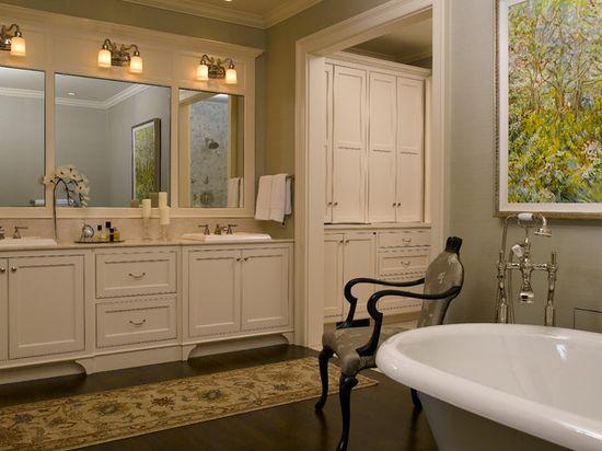 Дизайн интерьера ванной в классическом стиле - фото