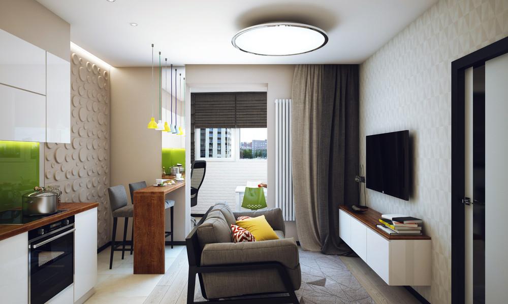 Однокомнатная квартира 47 кв.м. в стиле минимализм